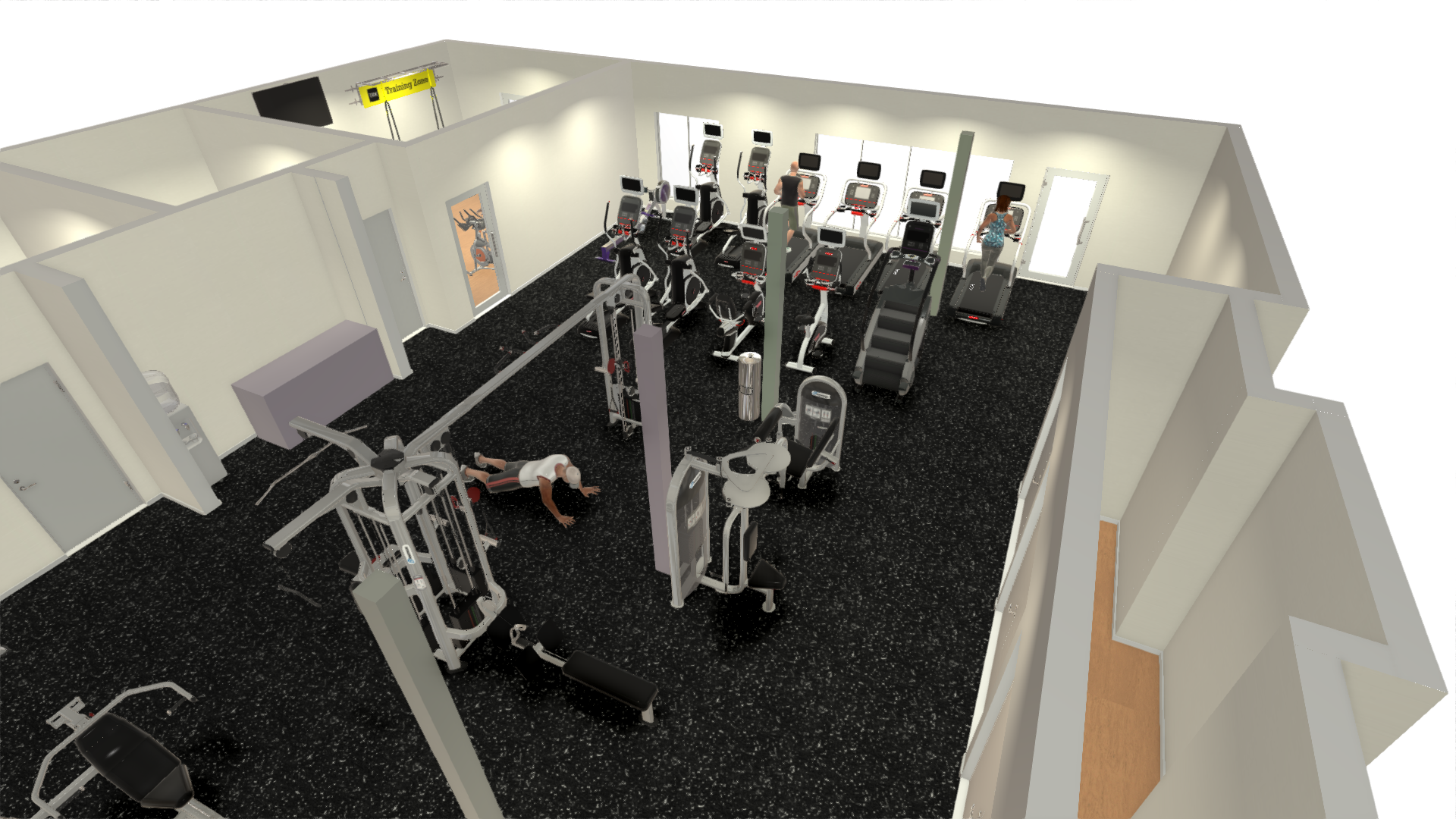Fitness center design sport and fitness inc for 2000 sq ft gym layout