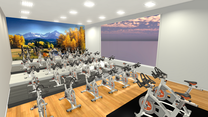 Fitness center design sport and fitness inc for Indoor cycle design